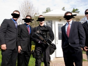 Secret Service agents at the White House